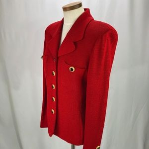 St. John Jackets & Coats - St John Knit Women's Red Blazer 10